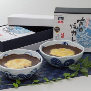 ご進物用 有田焼カレー2個入(結び丸紋)