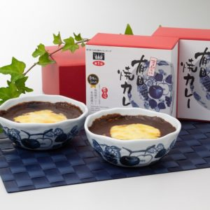 ご進物用 有田焼カレー小サイズ(めぐみの果実柄2個入)